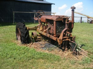 """Another View of the 1930""""s tractor"""