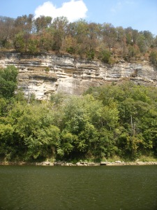Kentucky River with a rocky backdrop