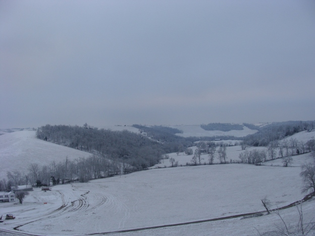 Snow Covered Hills of Kentucky